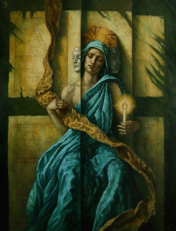 Jake Baddeley - There are Two Lights - oil on canvas - 100 x 70 cm - 2013 - SOLD