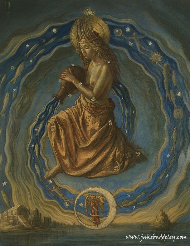 Aquarius - oil on canvas - 90 x 70 cm - 2014 - available