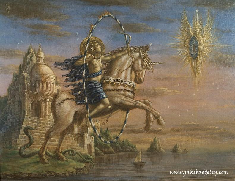 Sagittarius  - oil on canvas - 90 x 70 cm - 2014 - available