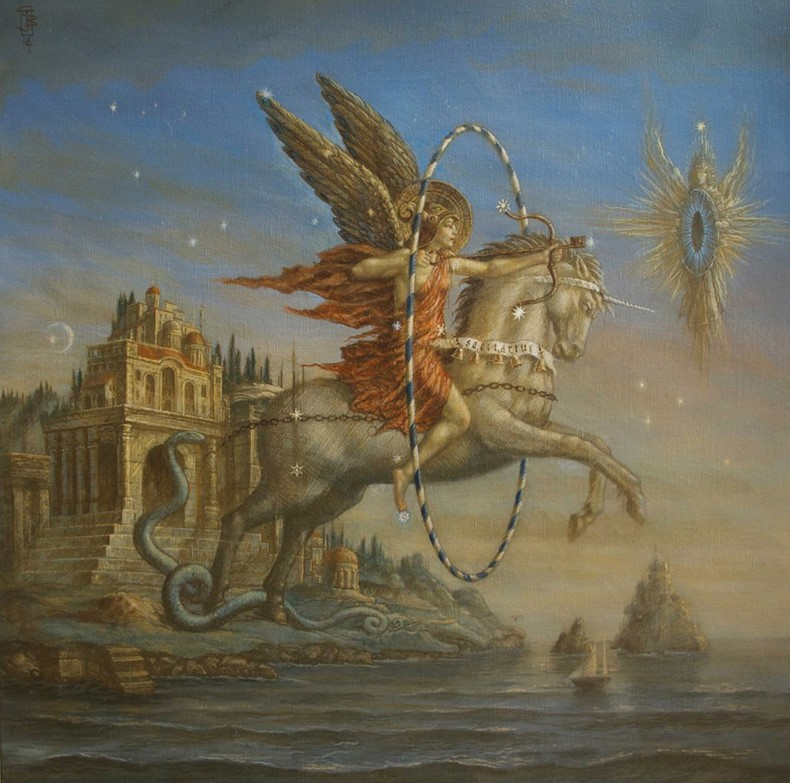 Sagittarius II - oil on canvas - 80 x 70 cm - 2014 - SOLD