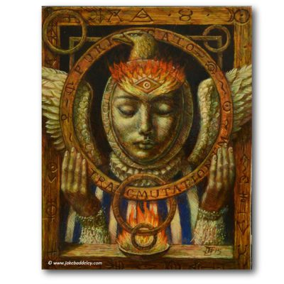 Transmutationem Purificato - oil paint on wood - 18 x 12 cm - 2015 - Request Availability