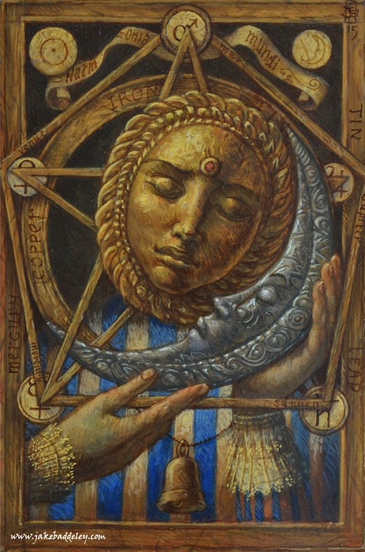 Harmonia Mundi - oil paint on wood panel - 30 x 20 cm - 2015