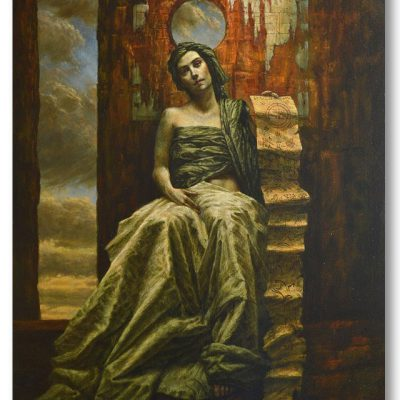 Jake Baddeley - She Hides Behind the Silence - oil on canvas - 100 x 70 cm - 2015