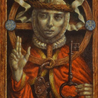 Jake Baddeley - Spiritus Sanctus - oil on panel - 30 x 20 cm - 2015
