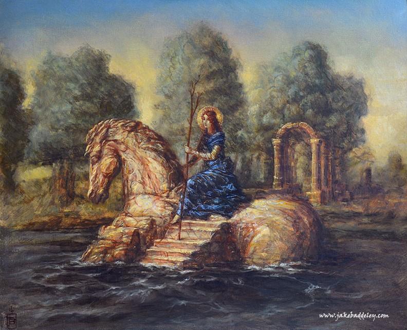 The Island - oil paint on canvas - 46 x 56 cm - 2015
