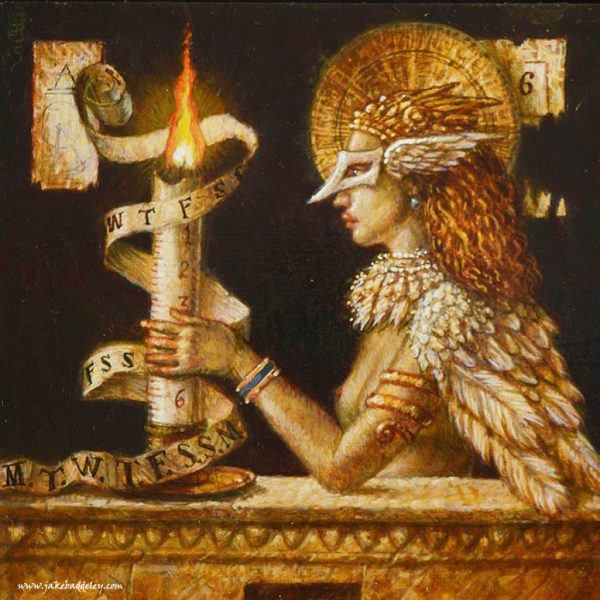 Jake Baddeley - Time Flies - oil on panel - 17 x 17 cm - 2015
