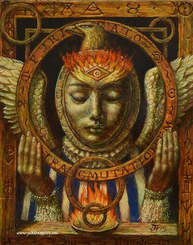 Transmutationem Purificatio - oil paint on wood panel - 18 x 12 cm -2015