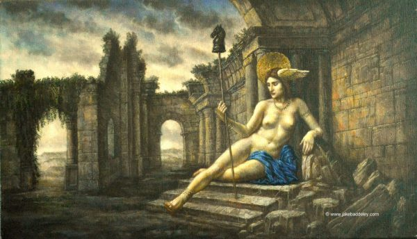 Jake Baddeley - Queen of the Ruins - oil on canvas - 60 x 35 cm - 2018