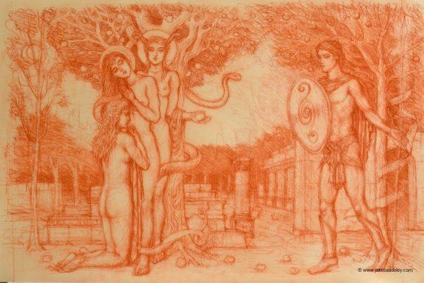 The Secret Garden - Chalk on Paper - 65 x 50 cm - 2018