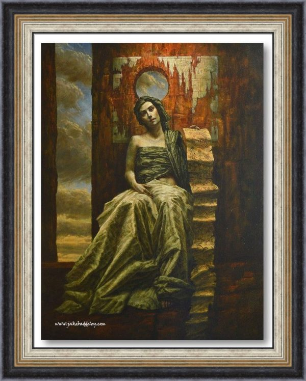 Jake Baddeley - She Hides Behind the Silence - 100 x 70 cm - oil on canvas - 2015