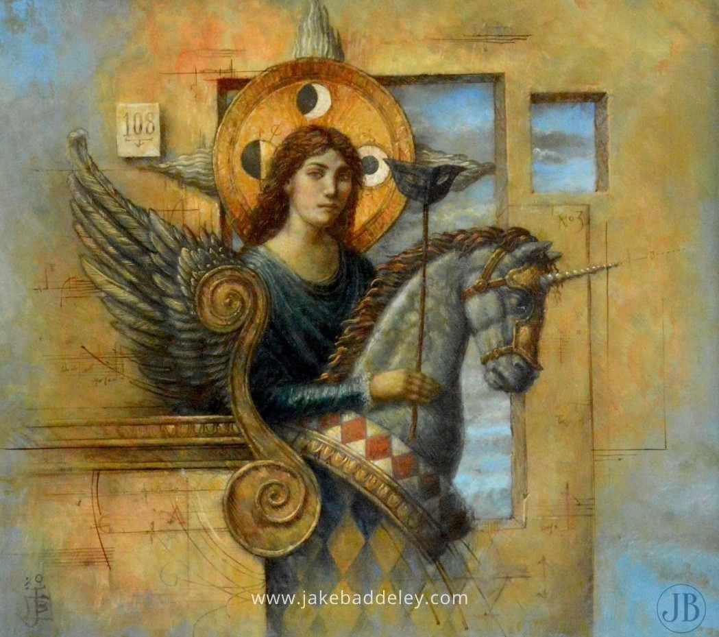 Jake Baddeley - My favourite hiding place - 55 x 50 cm - oil on wood - 2020
