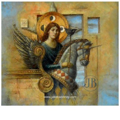 Jake Baddeley - My favourite hiding place - 55 x 50cm - oil on wood - 2020