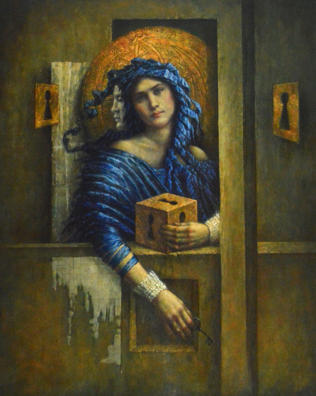 Jake Baddeley - Out of the Box - oil on wood panel - 80 x 60 cm - 2020
