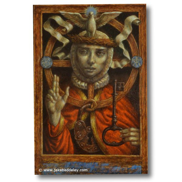 Spiritus Sanctum - oil paint on wood - 30 x 25 cm - 2015 - Request Availability