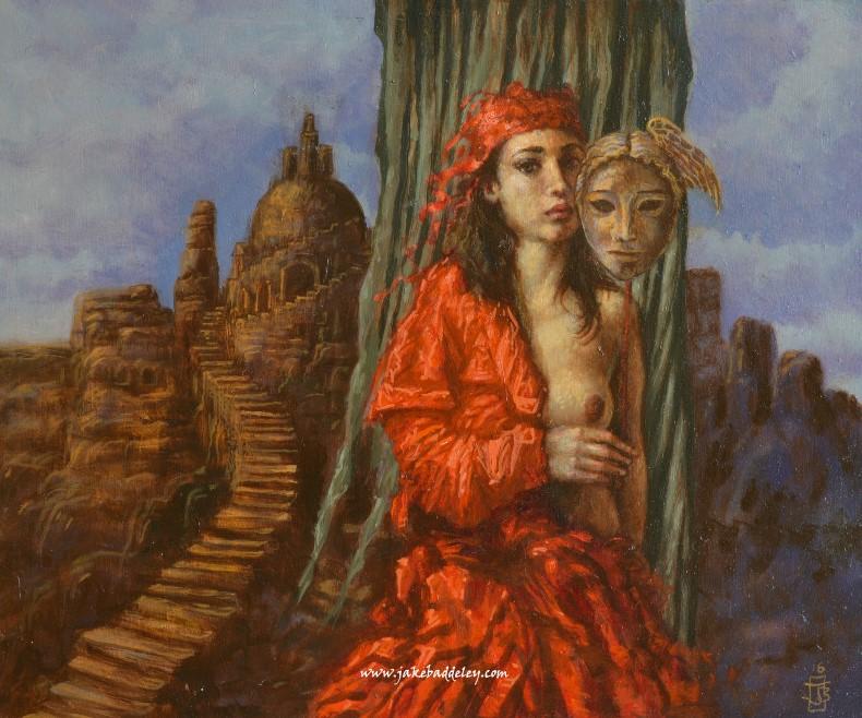 Jake Baddeley - The Veil- oil on wood - 25 x 30 cm - 2016 - SOLD